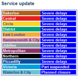 Severe Delays on all Lines