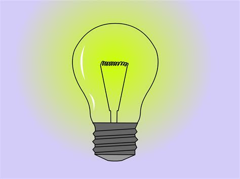 draw  light bulb  steps  pictures wikihow