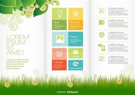 nature brochure design template vector  eps cdr ai