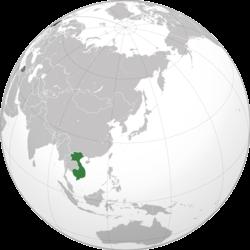 Vị trí của Đông Dương thuộc Pháp