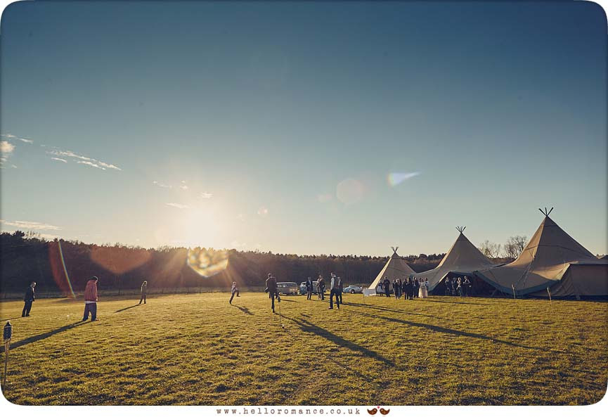 Evening Tipis at Suffolk wedding - www.helloromance.co.uk
