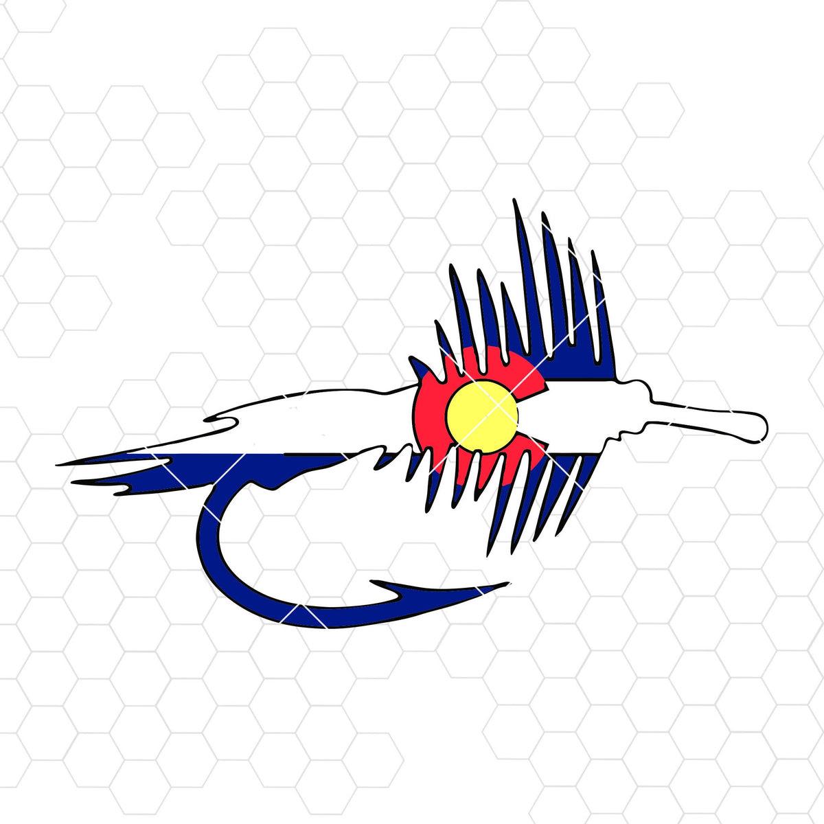 Download Colorado Flag Fly Fishing Lure Digital Cut Files Svg Dxf Eps Png C Doranstars