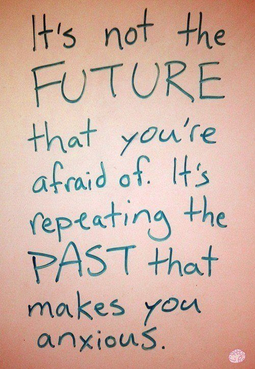 An Inspirational Picture Quote About Fear In The Past And Future