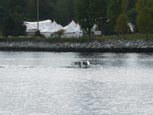 Amphibious vehicle on English Bay