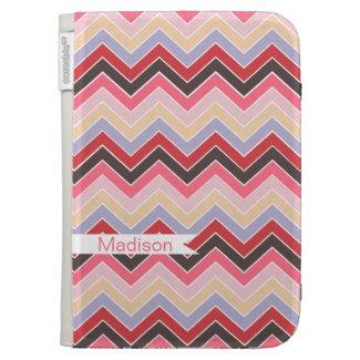 Vintage Fun {chevron pattern} Case For Kindle