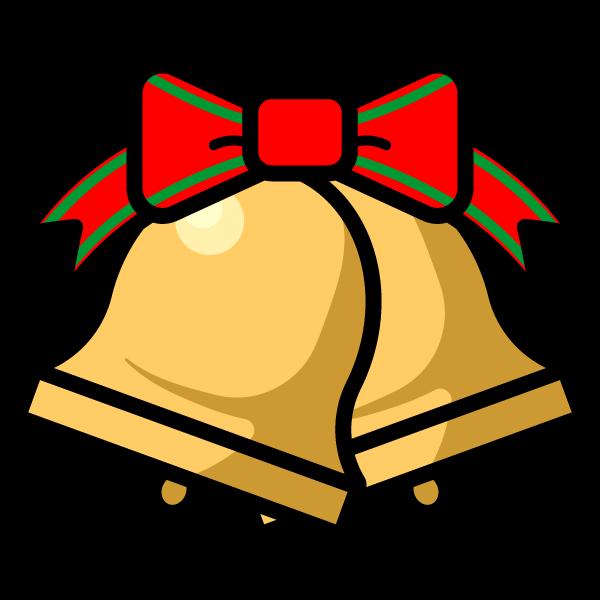 かわいいクリスマスベル3の無料イラスト商用フリー オイデ43