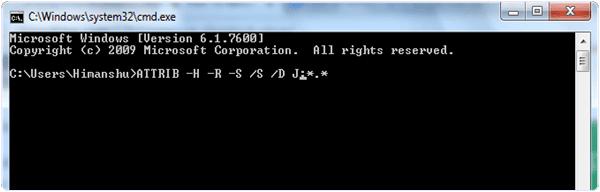 CMD Shortcut Virus Remover Command