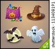 halloween icons-set 2 - stock vector