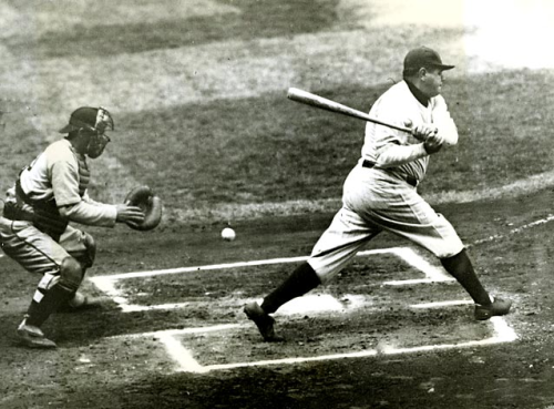 vintagesportspictures:<br /><br />Babe Ruth (1934)<br />