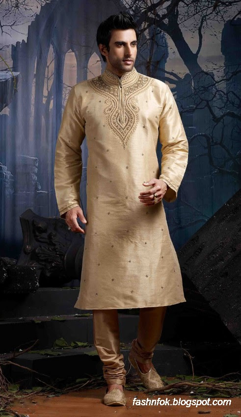 Kurta-Designs-Men-Male-New-Latest Silk-Kurta-Style-Design-11