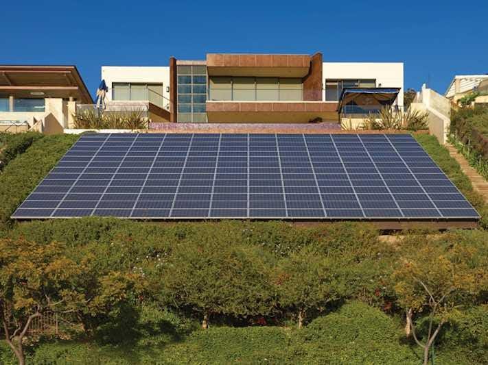 solar panel house