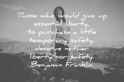 One Great Benjamin Franklin Quote About Liberty And Safety