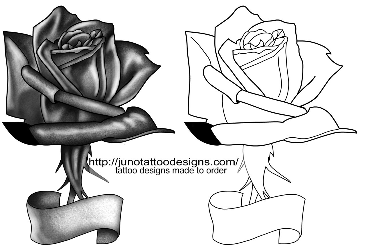 Gallery For Black Rose Tattoo Designs Clip Art Library
