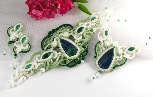 Bridal hand embroidered soutache set