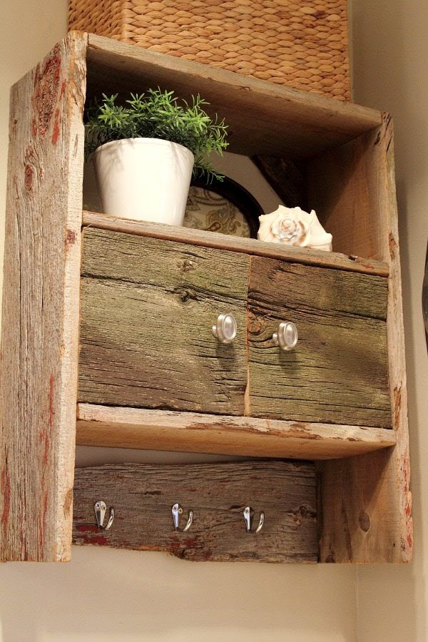 DIY Barnwood Bathroom Cabinet | The Creek Line House