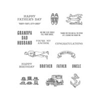 Guy Greetings Clear Stamp Set