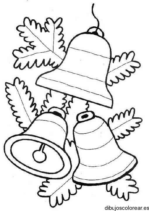 Dibujo De Tres Campanas Navideñas