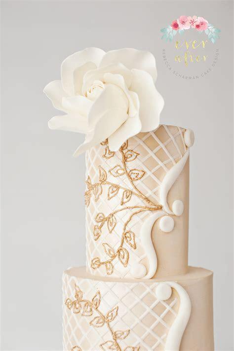Cream Lattice Cake   CakeCentral.com