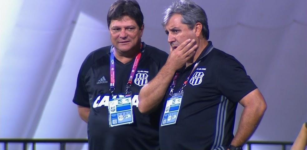 Expressão de Kleina diz tudo: Ponte ficou devendo em Goiânia  (Foto: Reprodução / PFC)