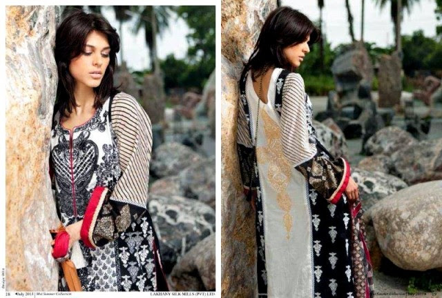 Beautiful-Cute-Girls-Models-Wear-Summer-Eid-Dress-Collection-2013-Lakhani-Silk-Mills-5