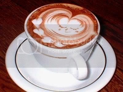 coffee art heart swirls Pictures, Images and Photos