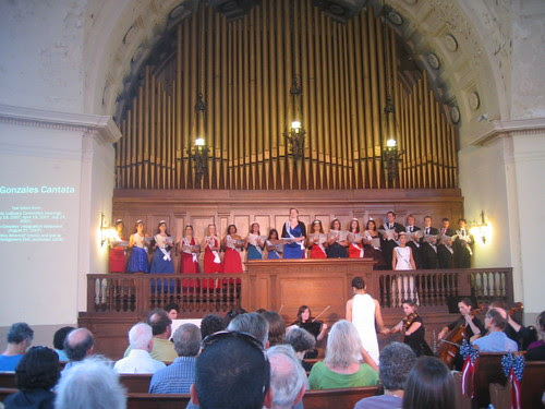 The cantata underway