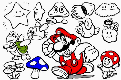 Dibujos Para Colorear De Mario Bros Y La Princesa Imagesacolorier