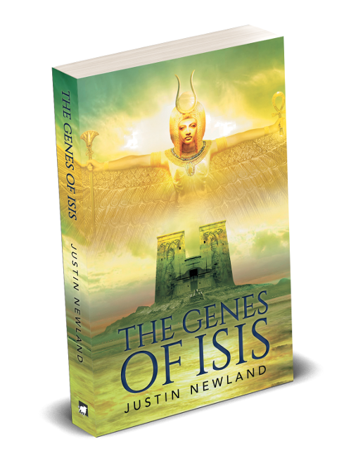Book Cover for epic fantasy The Genes of Isis by Justin Newland.