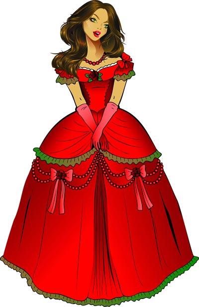beautiful princess vector cartoon1