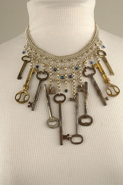 OLD KEYS...Smoke signals jewelry-keeper of the keys