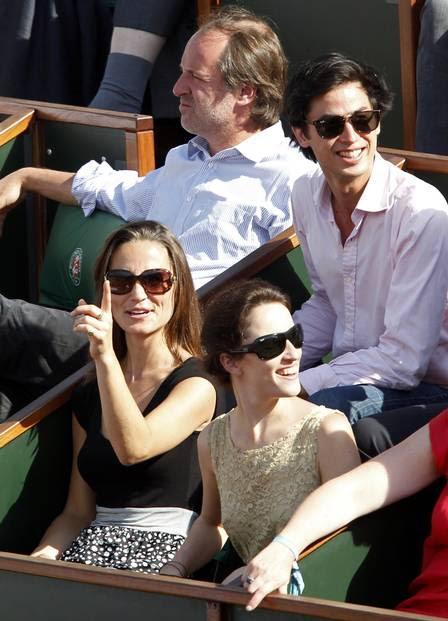 A irmã da Duquesa de Cambridge chamou a atenção no torneio.