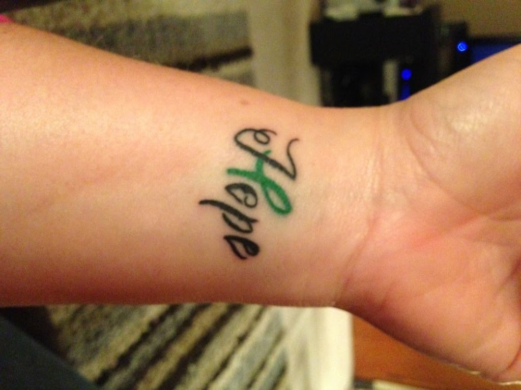 Hope Cancer Tattoo On Wrist