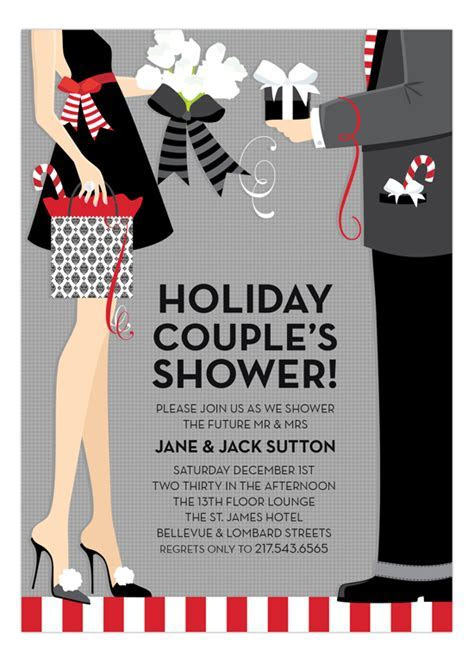 Doc Milo Digital Designs Holiday Couples Shower Invitation