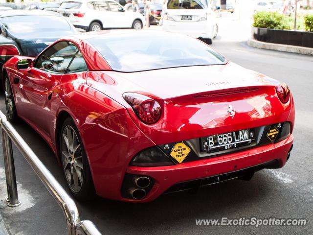 Ferrari California spotted in Jakarta, Indonesia on 06/09/2013