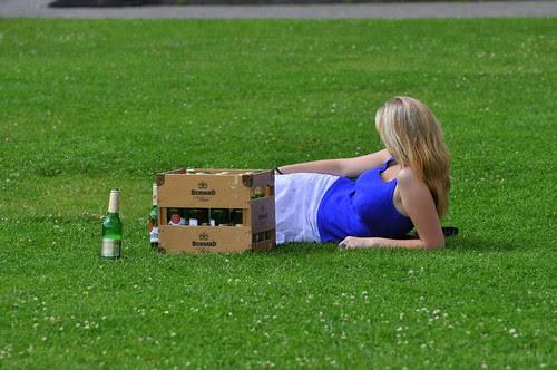 Kiste Bier im Lusstgarten