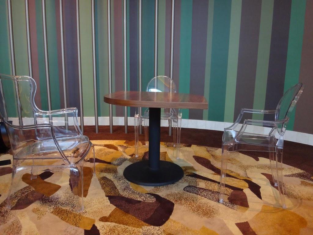 Revel Atlantic City retro furniture invisible chairs