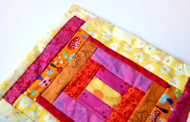 Warm mini quilt for Japan