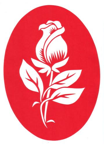 Дизайн нарезанную бумагу Роза Трафарет