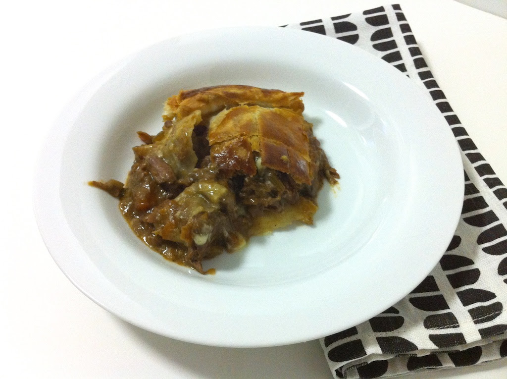 Steak, Stout and Cheddar Pie with Puff Pastry   Dula Notes