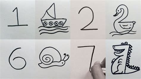 draw   numbers easy  drawing