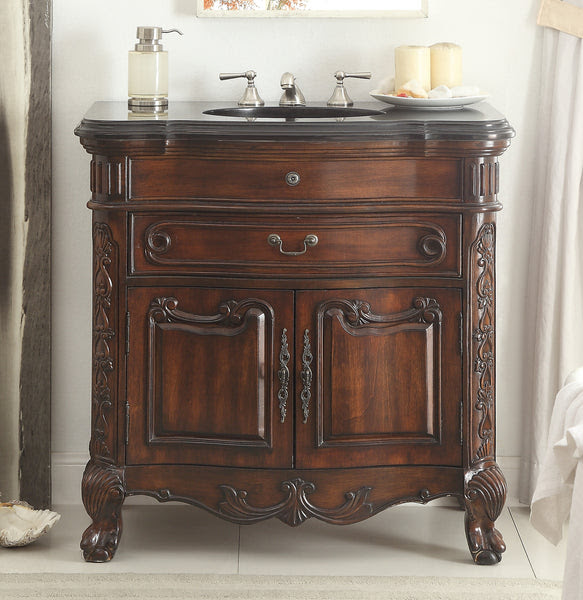 36 Solid Wood Classic Style Madison Bathroom Sink Vanity Cabinet
