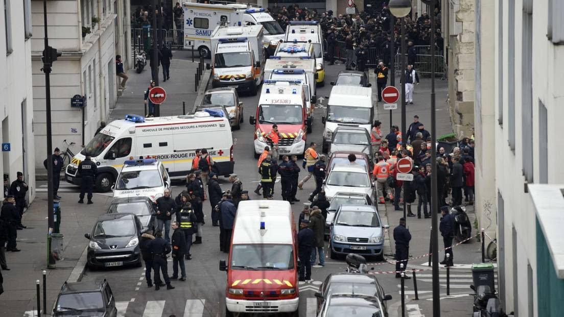 Paris after Muslim gunmen attacked the offices of magazine Charlie Hebdo