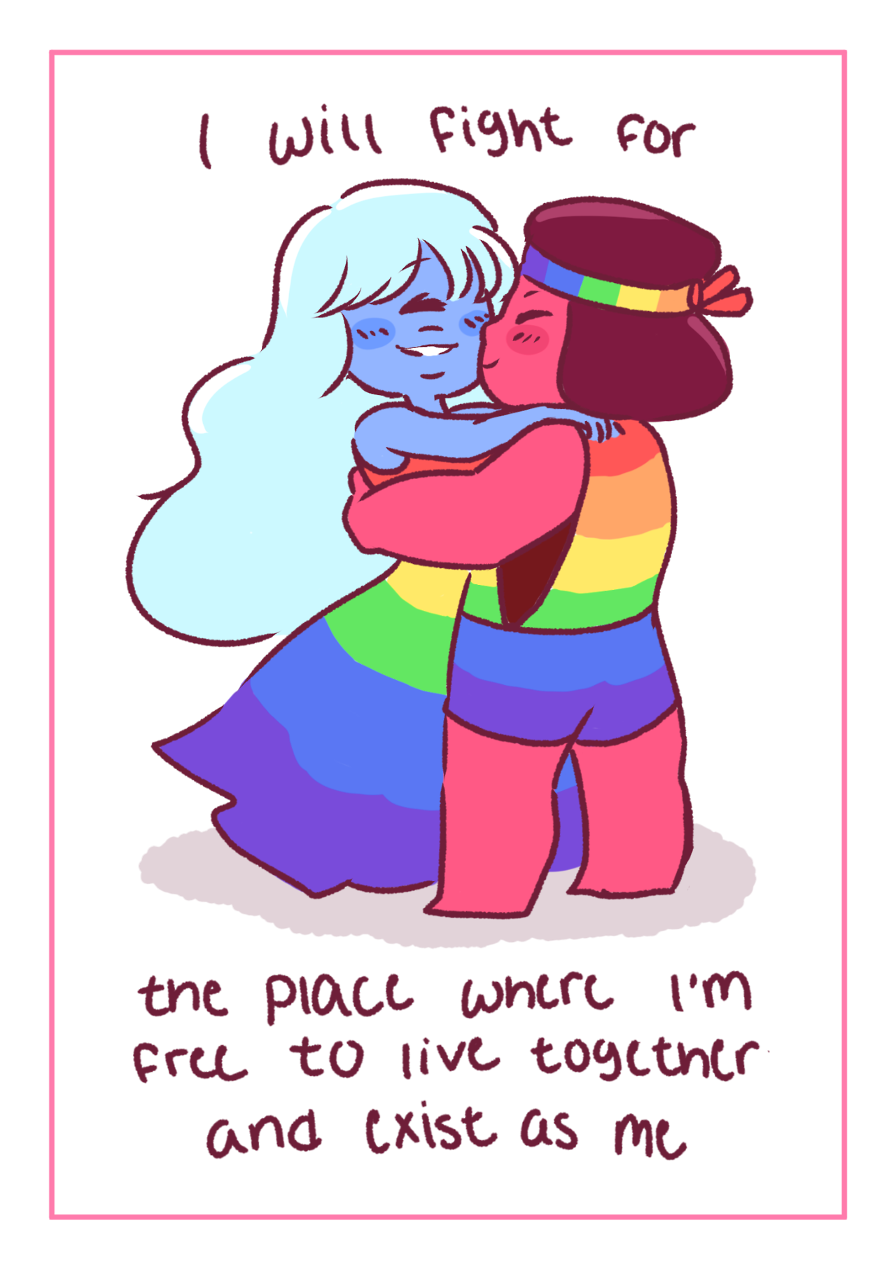 I'm practically really late with this, but happy Pride month. It went by really fast.