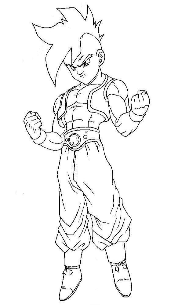 Dragon Ball Z Para Colorear Pintar E Imprimir