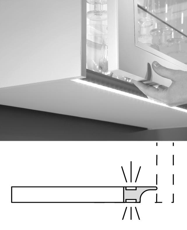 nobilia wandschrank climber  elektrische glaslamellenfront