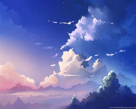 anime sky scenery cloud scenery  desktop background