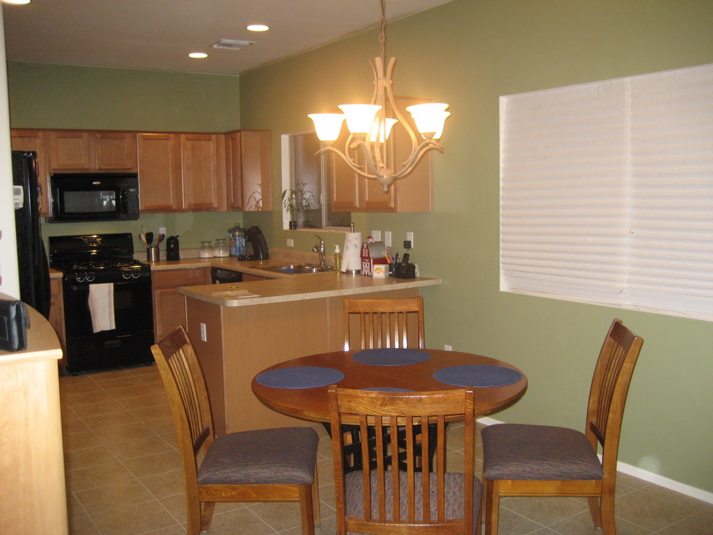 Olive Green Painted Kitchen Walls