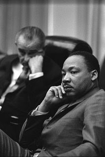 Martin Luther King, Jr. with President Lyndon Johnson