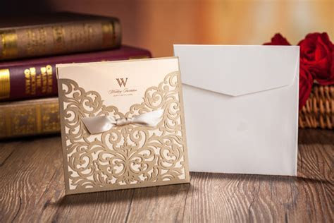 Elegant Wedding Card Laser Cut