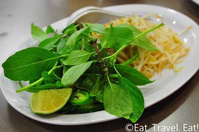 Golden Deli- Temple City, CA: Side Plate- Herbs and Bean Sprouts